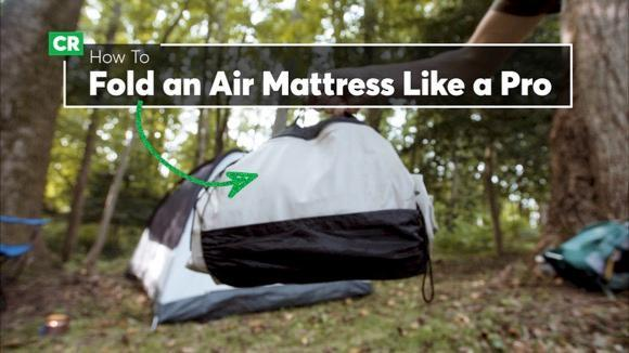 Camping Tip: How to Fold an Air Mattress
