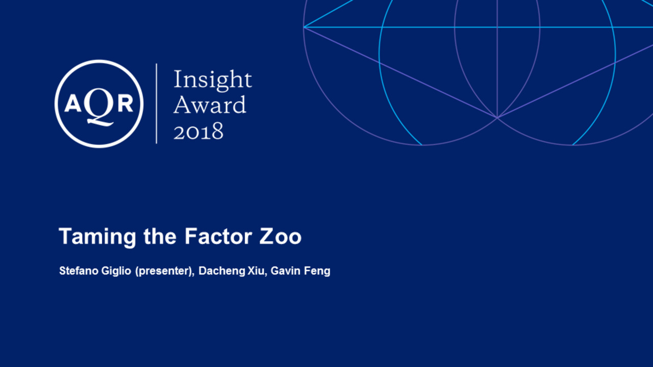 Taming the Factor Zoo