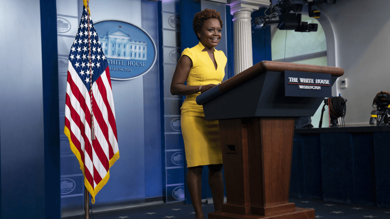 Karine Jean-Pierre becomes second Black woman behind White House briefing podium – POLITICO