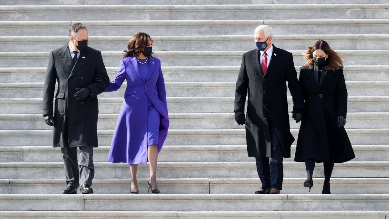 Vice President Harris bids farewell to Pence