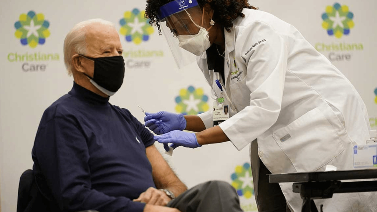 Joe Biden receives coronavirus vaccination