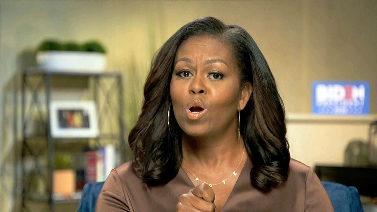 Michelle Obama: 'Going high is the only thing that works'