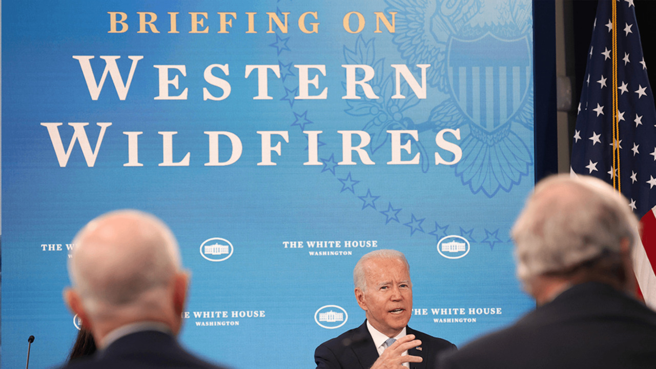 Biden touts infrastructure bill as a response to extreme weather events