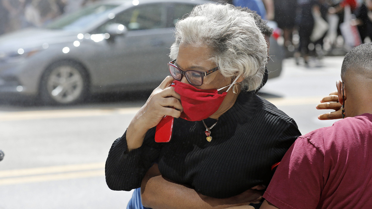 African-American congresswoman pepper-sprayed during racism protest