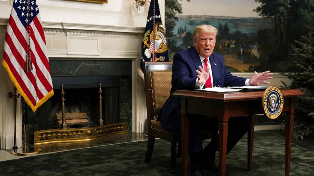 Trump maintains election fraud, pledges travel to Georgia in first presser since election