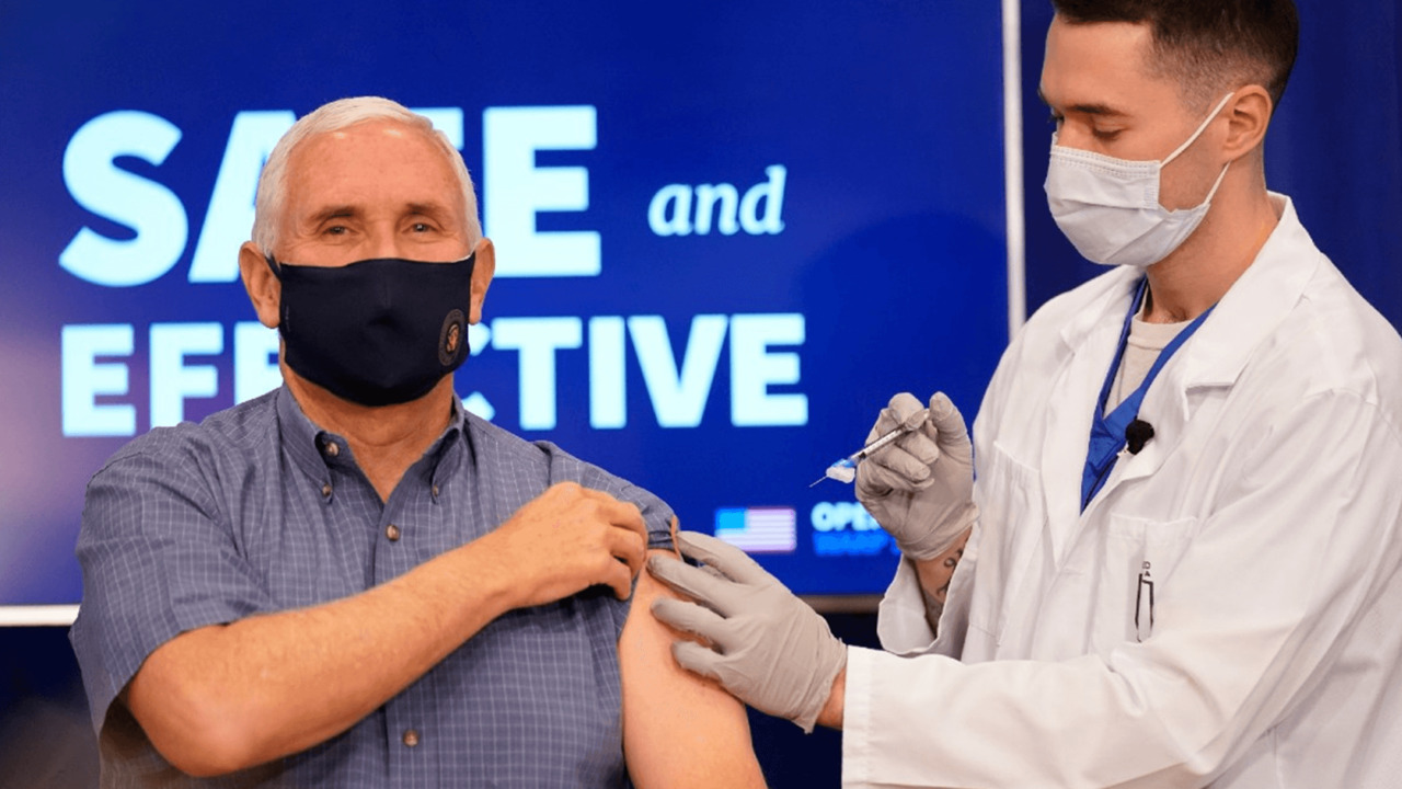 'Hope is on the way': Pence gets coronavirus vaccine on live television