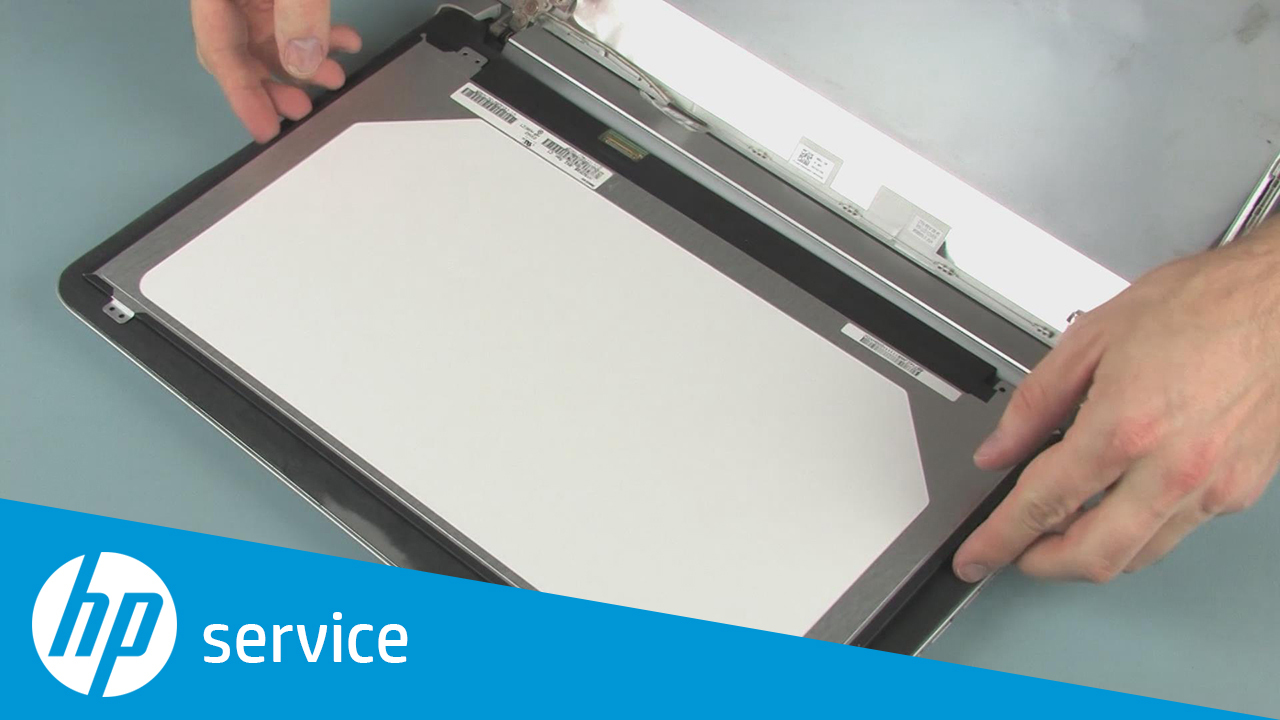Removing and Replacing the Display Panel on the Pavilion 15-ab000 Notebook