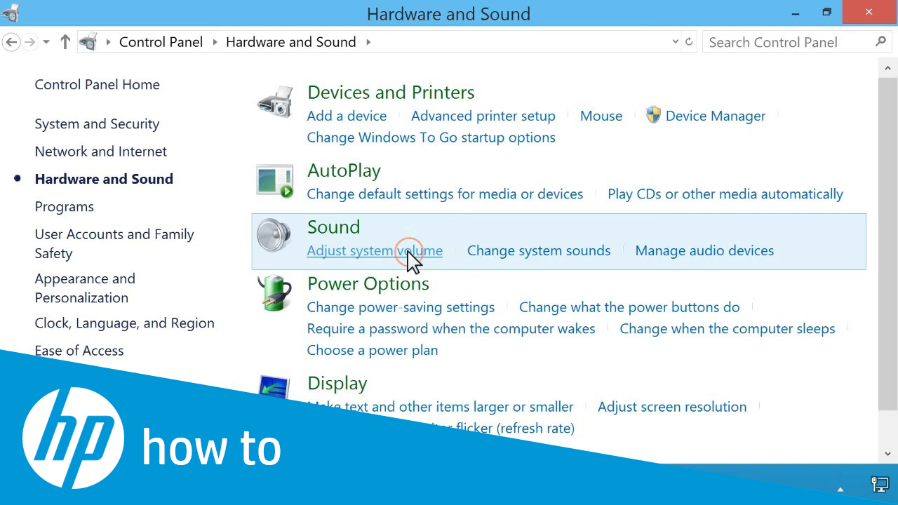 Adjusting the Volume Settings in Windows 8