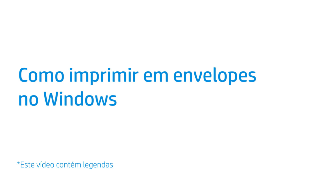 Como Imprimir Em Envelopes No Windows