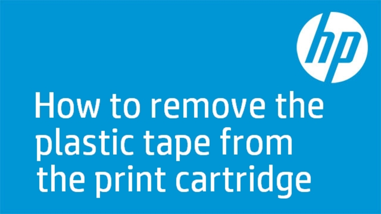 How to remove the plastic tape from the print cartridge