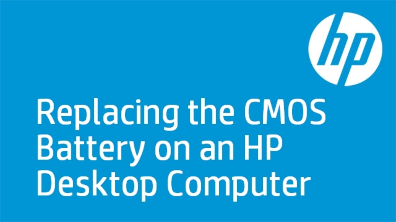 Replacing the CMOS Battery on an HP Desktop Computer