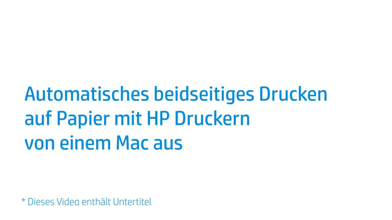 Automatisches Beidseitiges Drucken Auf Papier Mit Hp Druckern Von Einem Mac Aus