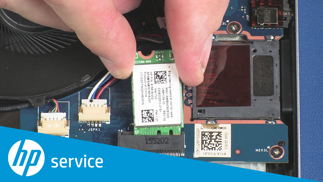 How To Remove the Wireless Module on the HP Pavilion 14-bf0xx Laptop PC