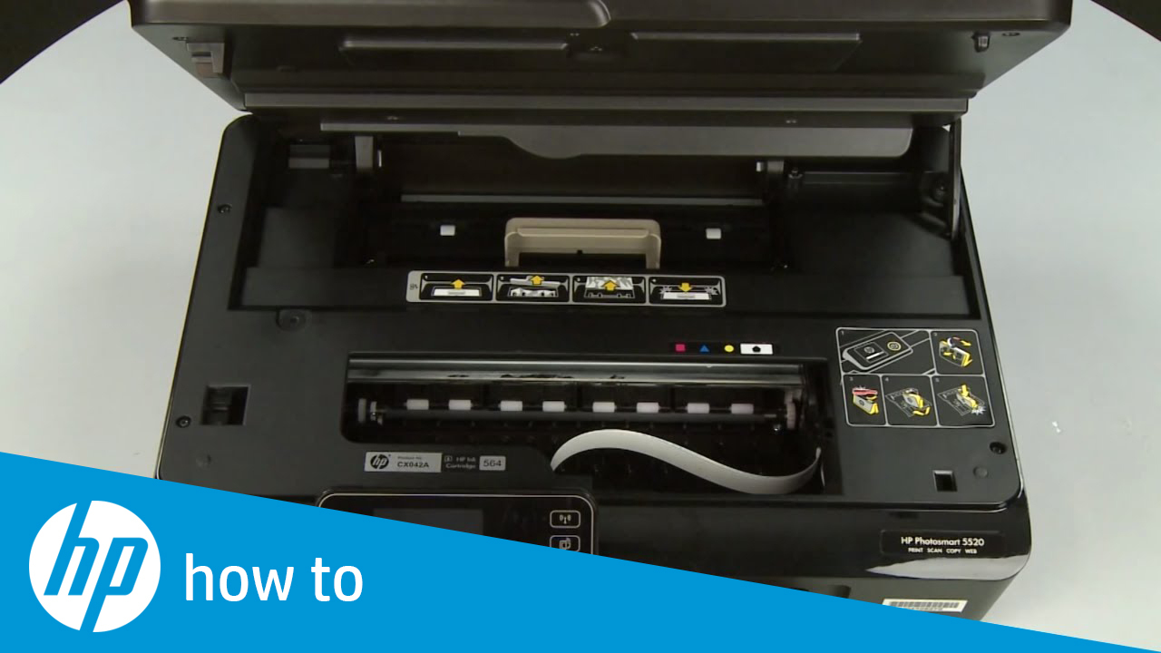 Fixing a Paper Jam - HP Photosmart 5520 e-All-in-One Printer