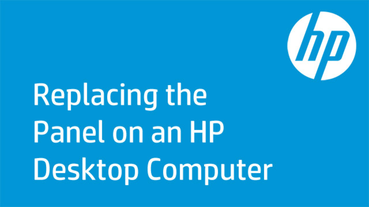 Learn how to replace the panel on various HP desktop computers.