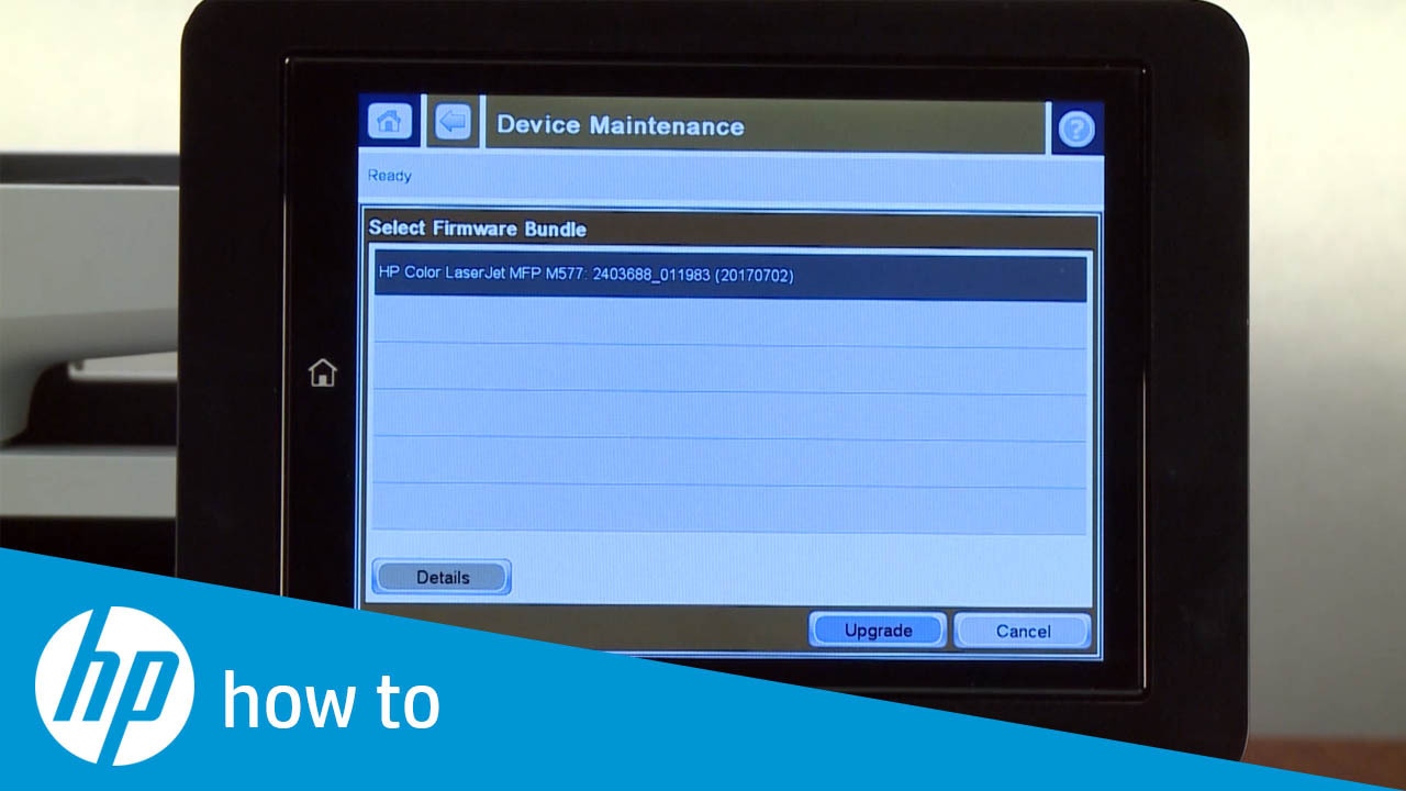 How to Upgrade the Firmware from the Printer Control Panel on HP Enterprise  and Managed Printers - FutureSmart 3 to FutureSmart 4