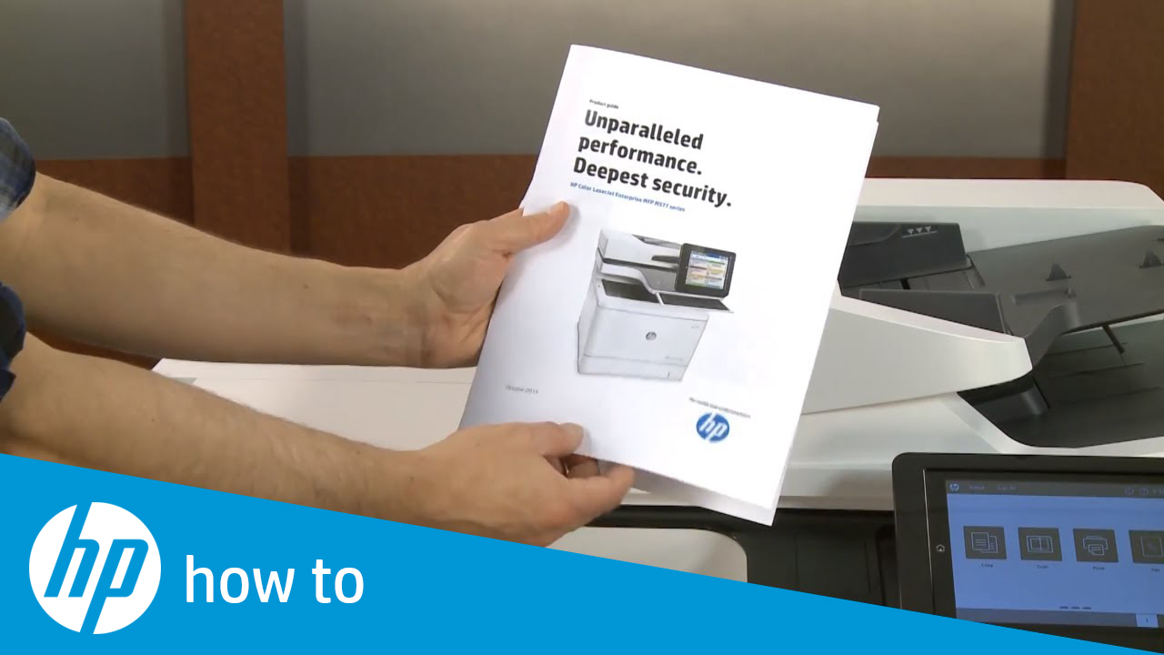 HP LaserJet Managed MFP - How to use the booklet finisher to