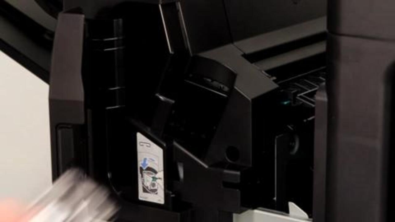 How to Replace Staple Cart on the HP LaserJet Enterprise MFP M630