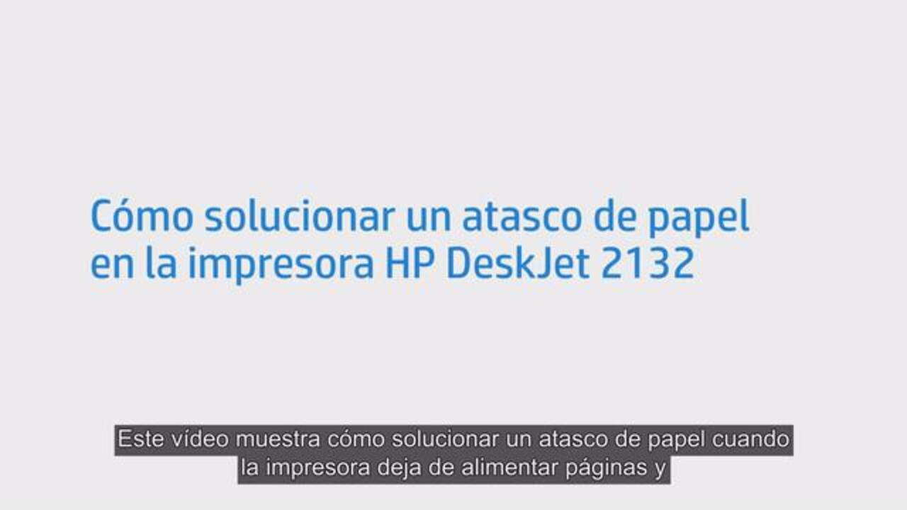 Impresoras HP DeskJet 2130 - La luz de Reanudar parpadea (atasco de ...