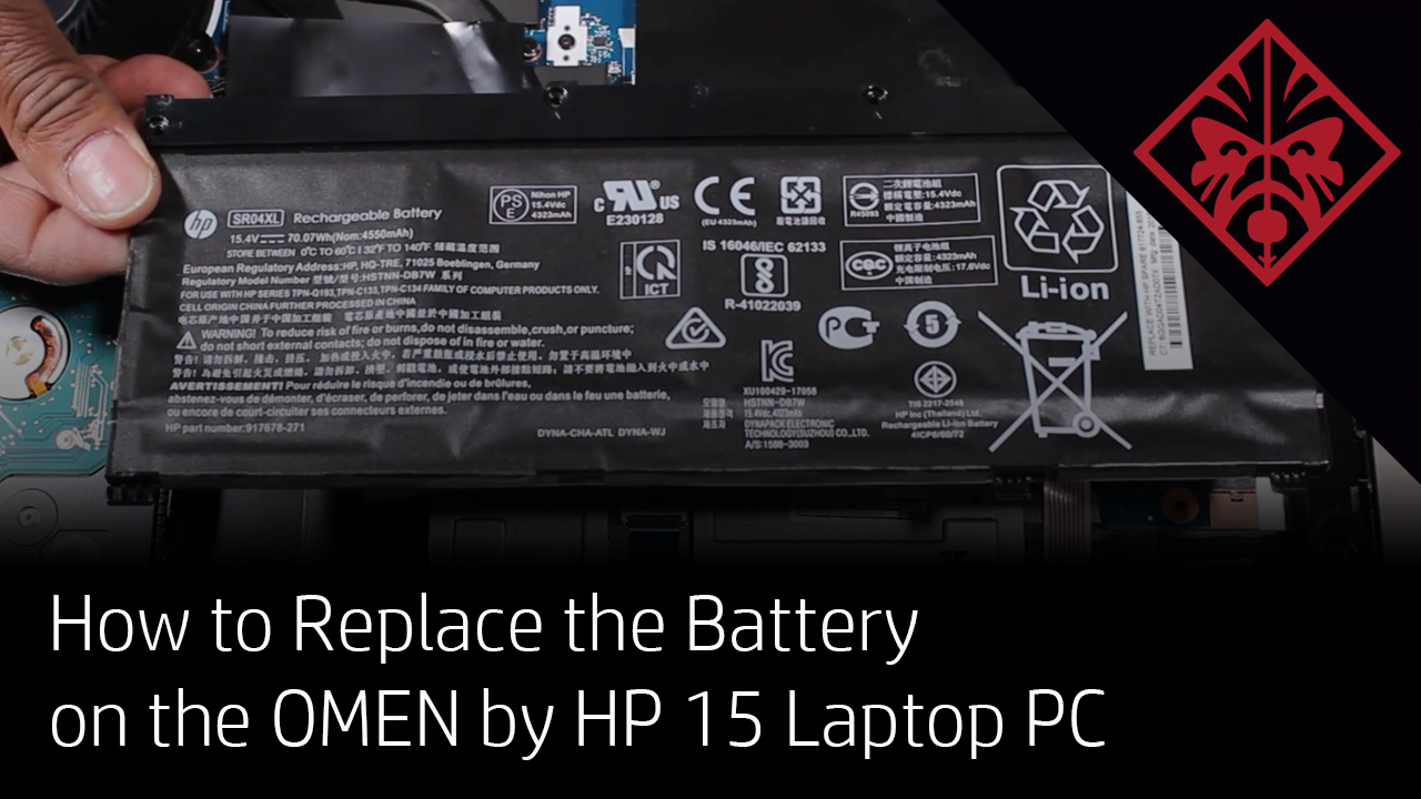 How to Replace the Battery on the OMEN by HP 15 Laptop PC