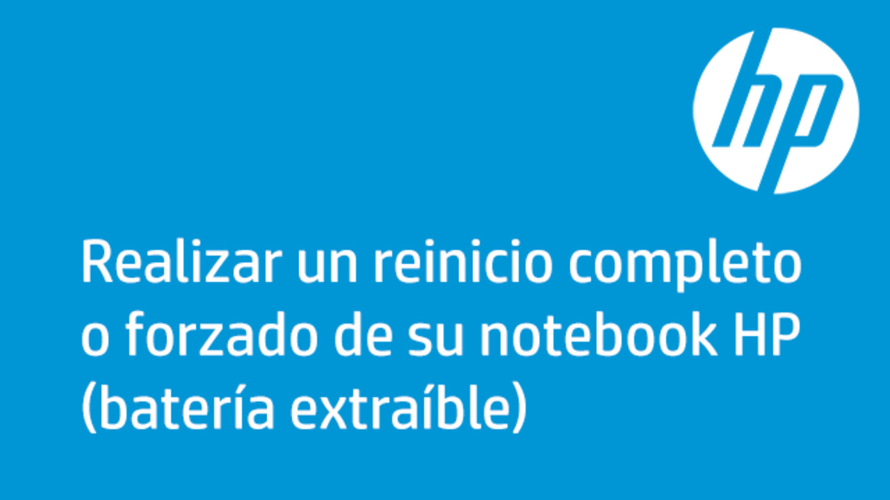 7867fe36414b Realizar un reinicio completo o forzado de su notebook HP (batería  extraíble)