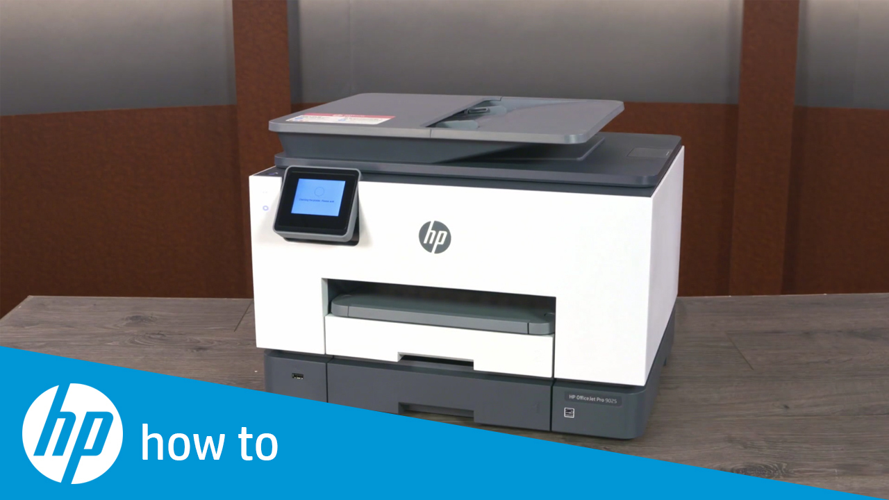 HP OfficeJet Pro 9010, 9020 Printers - First Time Printer Setup ...