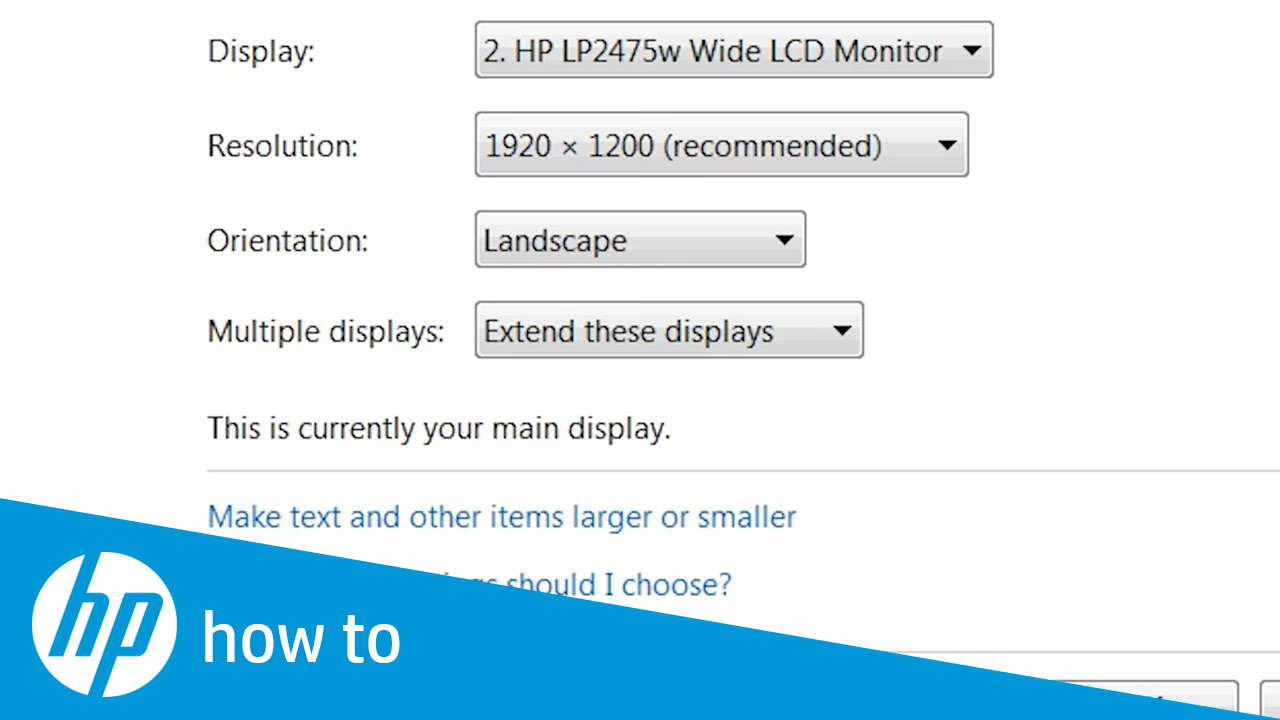 HP Products - Changing Display Settings, Background Image, Icons