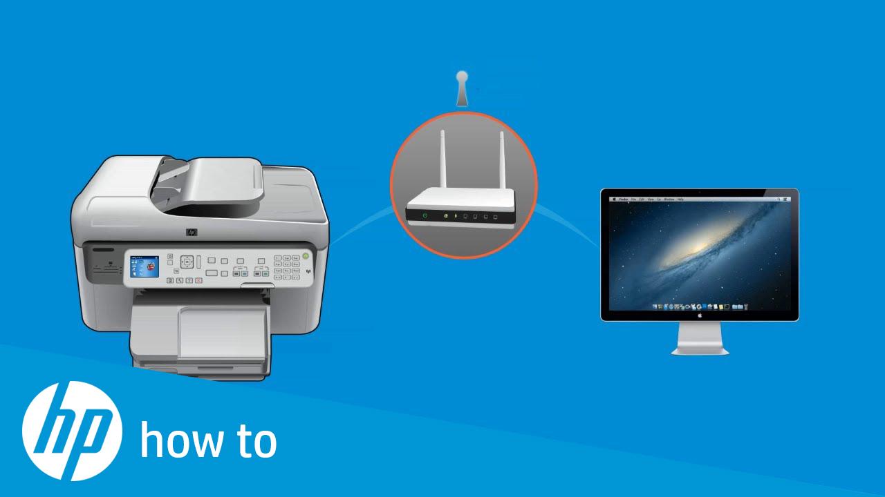 install hp network printer on mac
