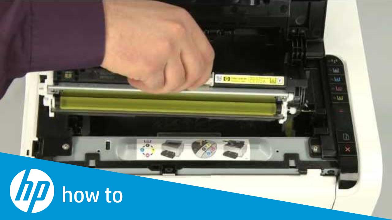 Replacing a Cartridge - HP LaserJet Pro CP1025nw Color Printer