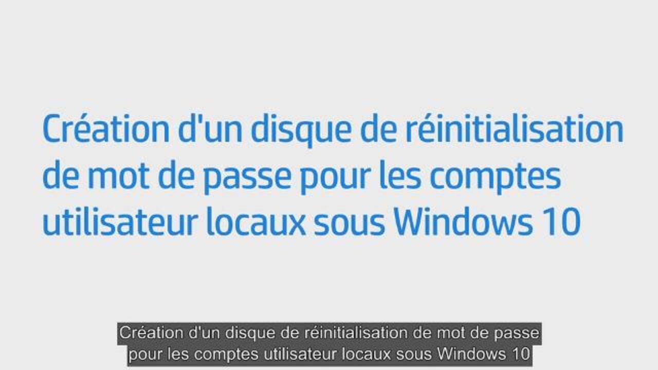 Ordinateurs Hp Gestion Des Comptes Et Identifiants Utilisateur