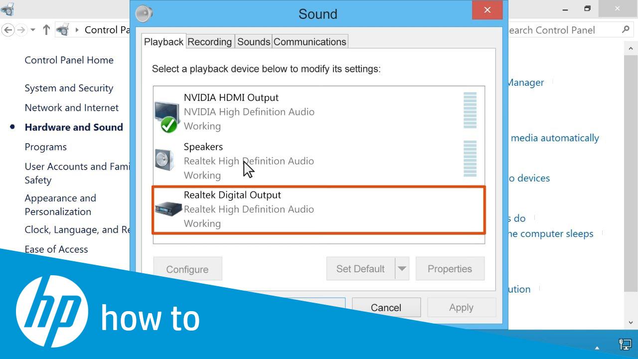 no sound on windows 8.1 desktop
