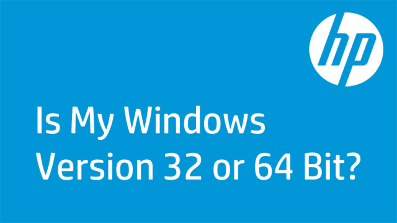 how to find if windows is 32 or 64
