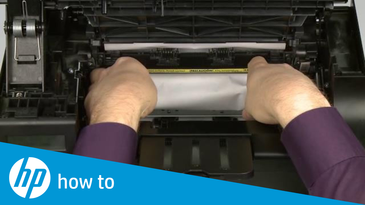 Fixing a Paper Jam – HP LaserJet Pro M1212nf