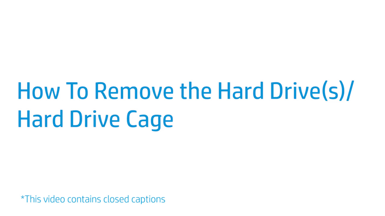 How to Replace the Hard Drive/Hard Drive Cage of the HP EliteDesk 800 G3,  G4, G5 Towers and EliteDesk 800 G4, G5 Tower Workstation Edition