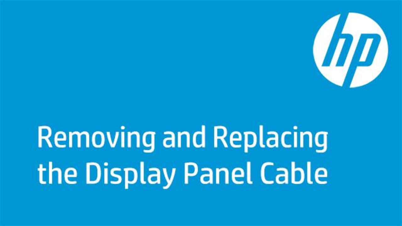 Removing and Replacing the Display Panel Cable on the HP Pavilion x360 m3  Convertible Notebook