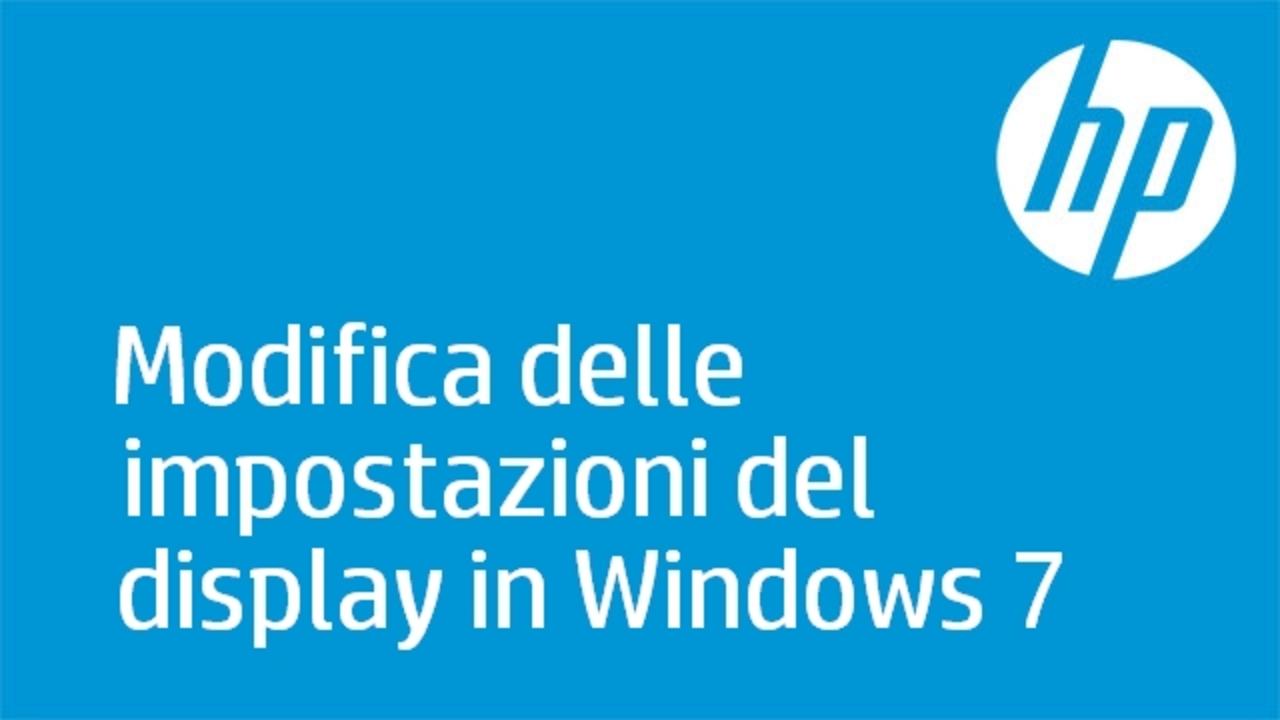 7842949728 Questo video mostra come modificare le impostazioni del display in Windows 7
