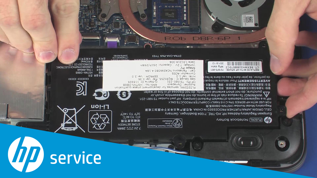 Removing and Replacing the Battery for HP Pavilion x360 Notebook PCs
