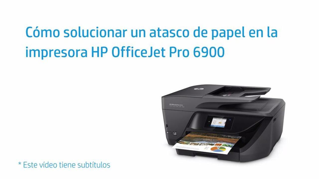 Cómo solucionar un atasco de papel en la impresora HP OfficeJet Pro 6900