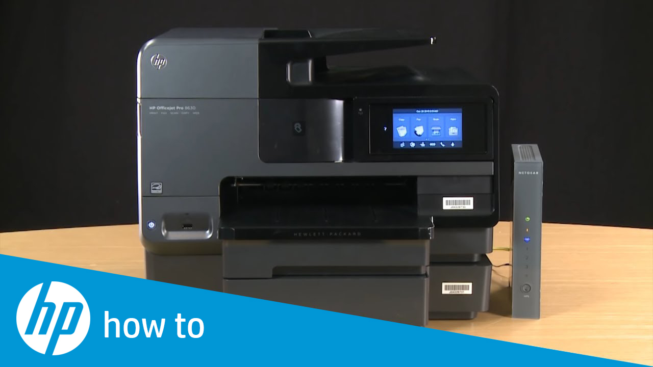 Connecting an HP InkJet Printer to a Wireless Network Learn how to connect  your HP printer wirelessly to a network. Using the Wireless Setup Wizard,  you w.
