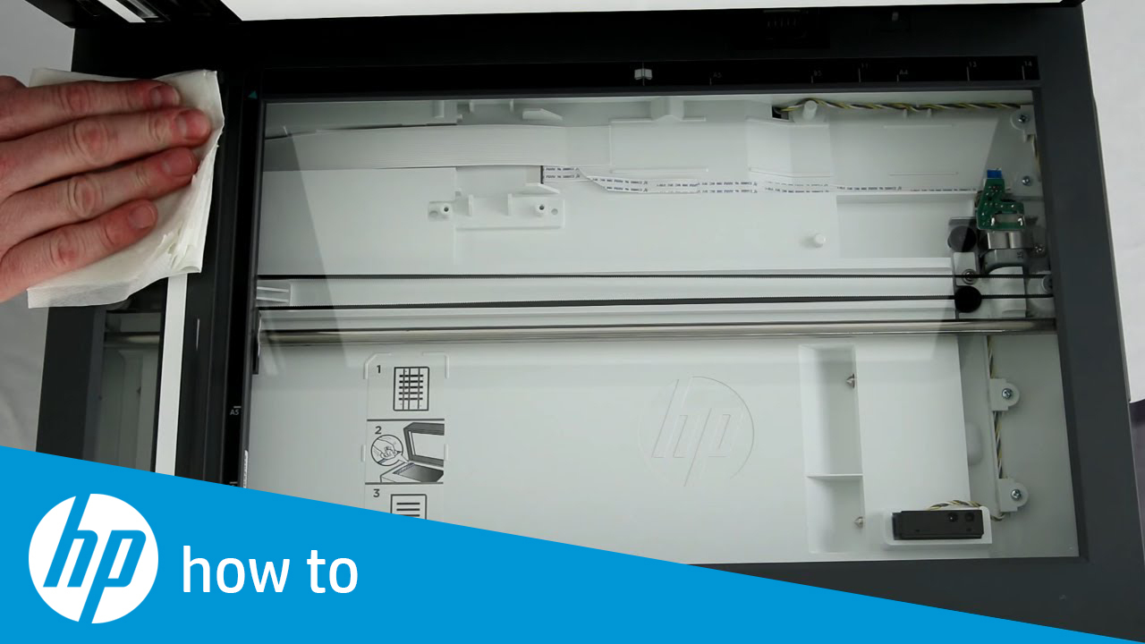 Cleaning the Scanner Glass and White Backing - HP Enterprise and LaserJet  Pro Multifunction Printers