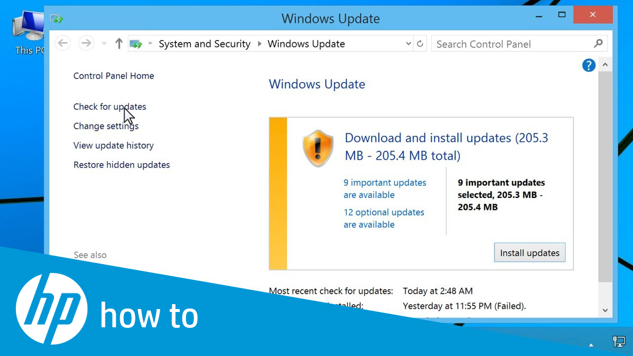 Updating HP Drivers and Software with Windows Update in Windows 8 and 7