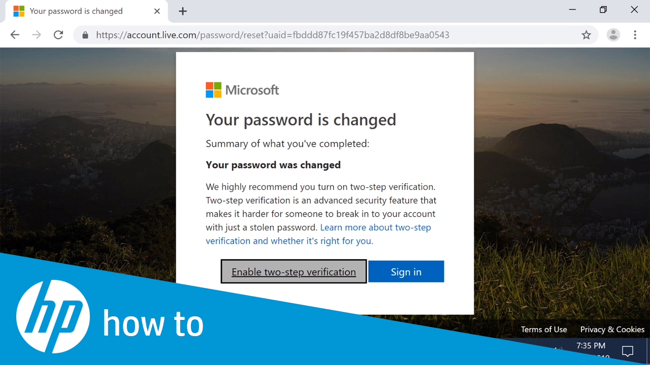 How to Reset Your Microsoft Account Password for Windows 10