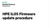 iLO 5 Firmware Update procedure on DL560 Gen10