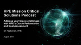 Address your Oracle challenges with HPE´s Oracle Performance and Cost Assessment