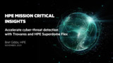 Accelerate cyber-threat detection with Trovares and HPE Superdome Flex