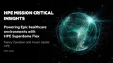 Powering Epic healthcare environments with  HPE Superdome Flex
