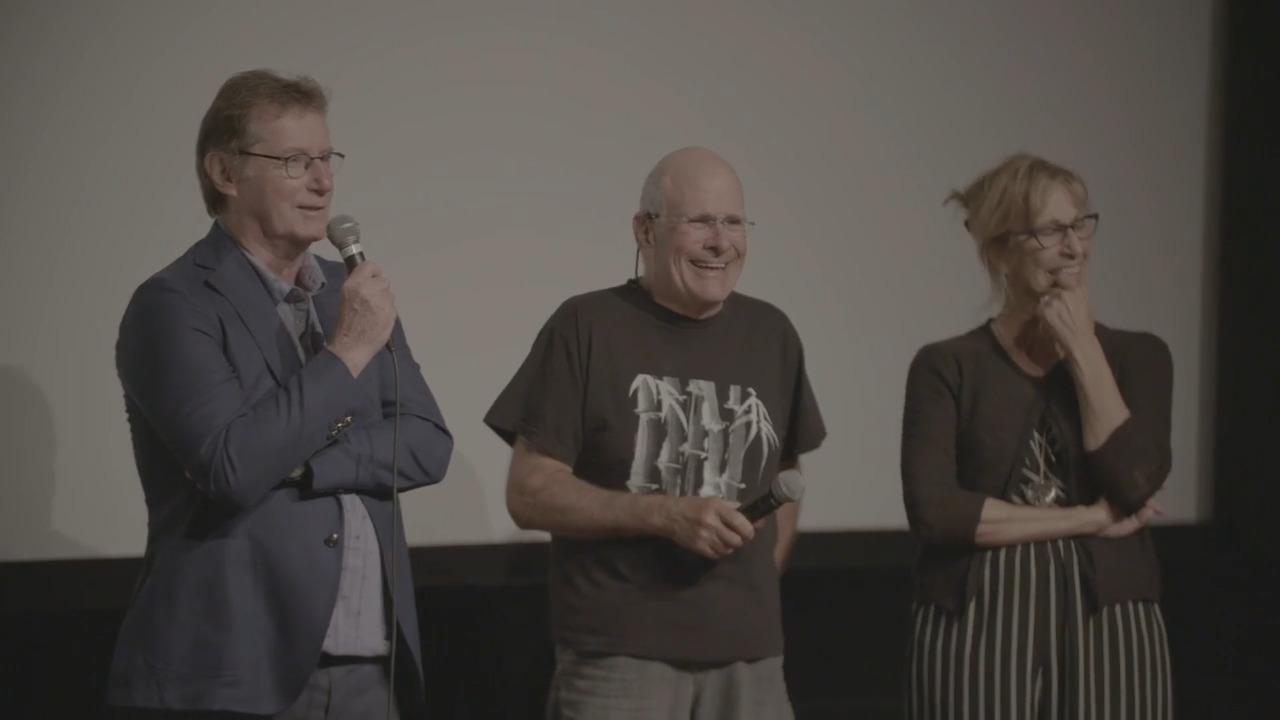Robert Favreau, Danielle Proulx et Marc Messier discutent de Portion d'éternité (1989)