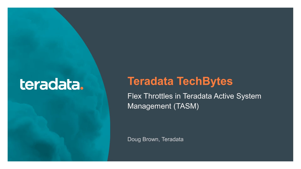 Vantage Flex Throttle in Teradata Active System Management
