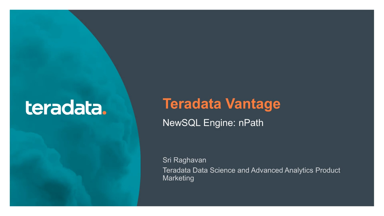 Teradata Vantage Advanced Analytic Function nPath