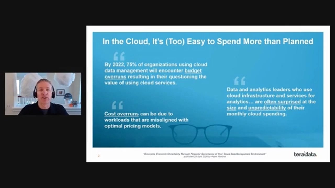 Estimate Your Cost for Teradata in the Cloud